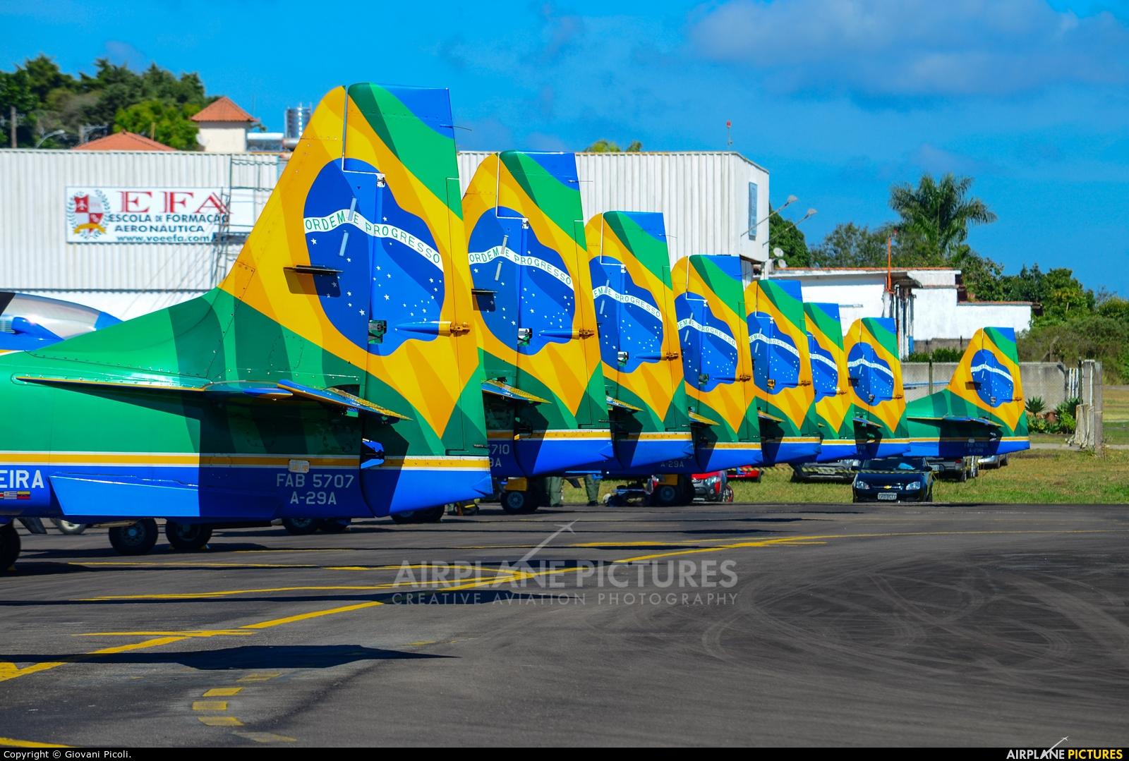 """Brazil - Air Force """"Esquadrilha da Fumaça"""" FAB-5707 aircraft at Juiz de Fora - Francisco de Assis"""