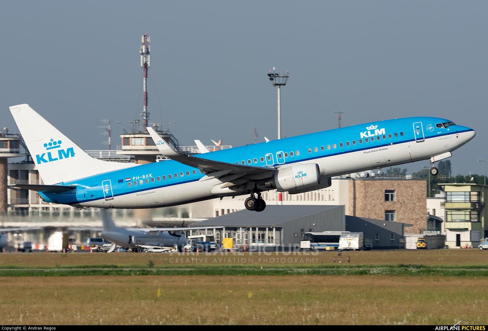 KLM PH-BXK aircraft at Budapest Ferenc Liszt International Airport
