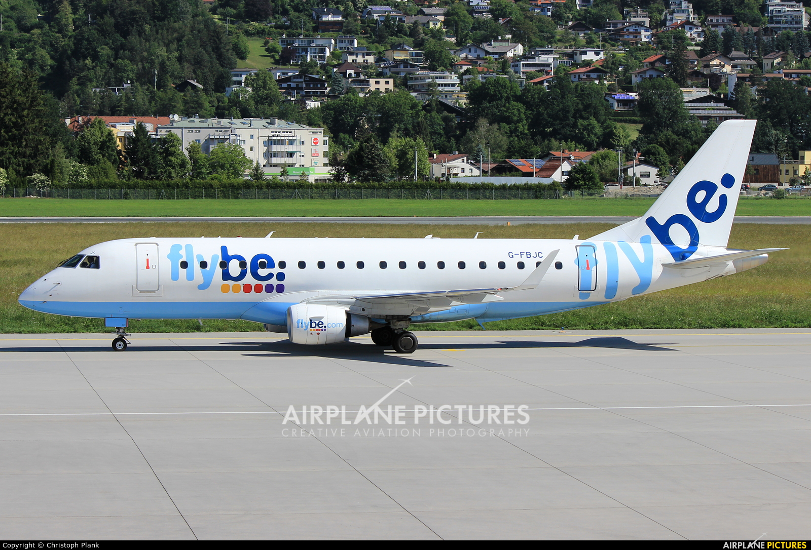 Flybe G-FBJC aircraft at Innsbruck