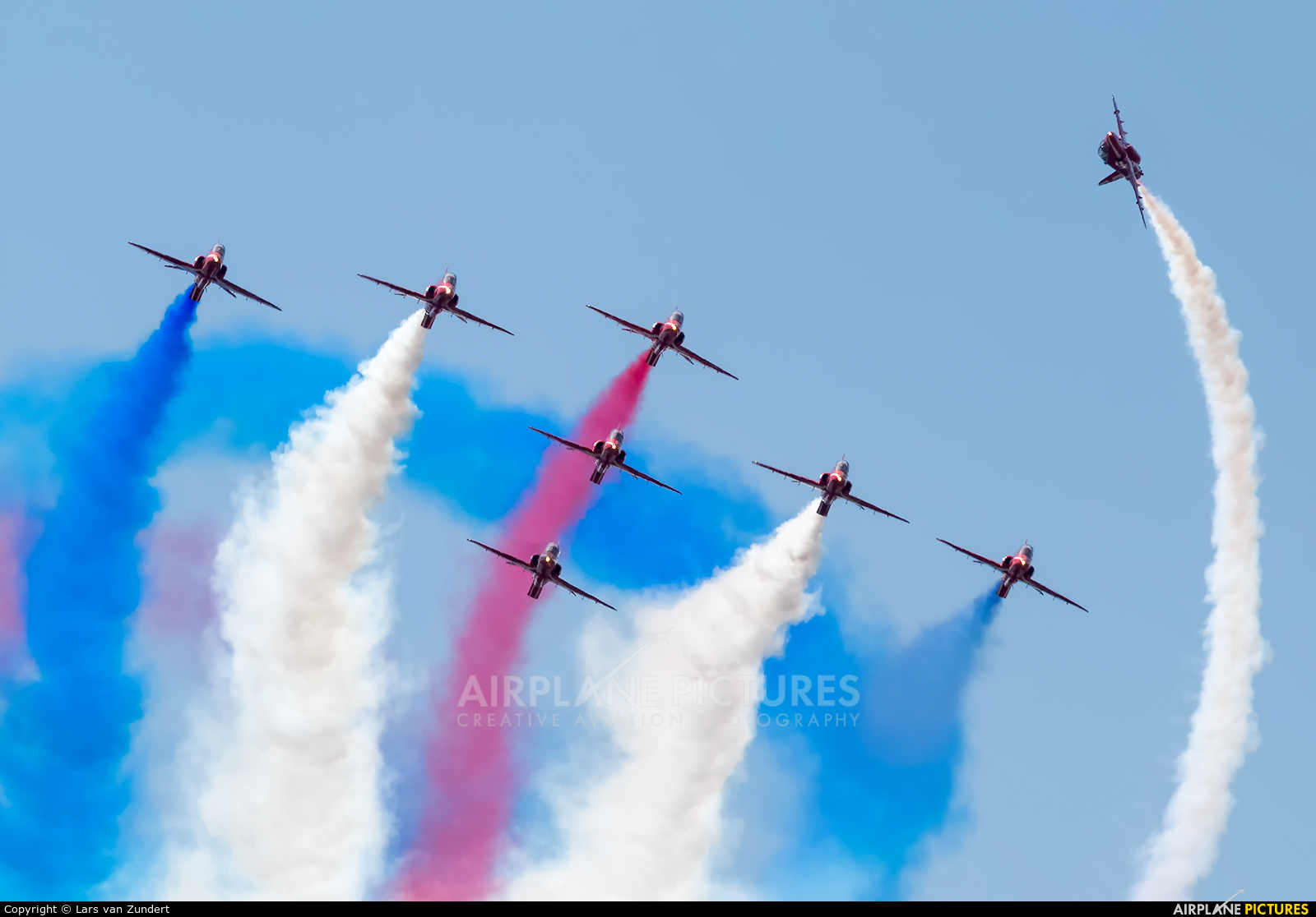 """Royal Air Force """"Red Arrows"""" XX322 aircraft at Uden - Volkel"""
