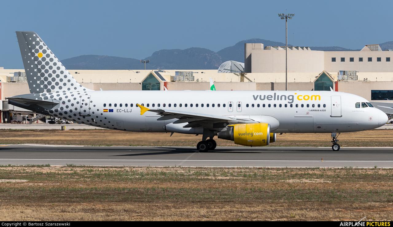 Vueling Airlines EC-LLJ aircraft at Palma de Mallorca