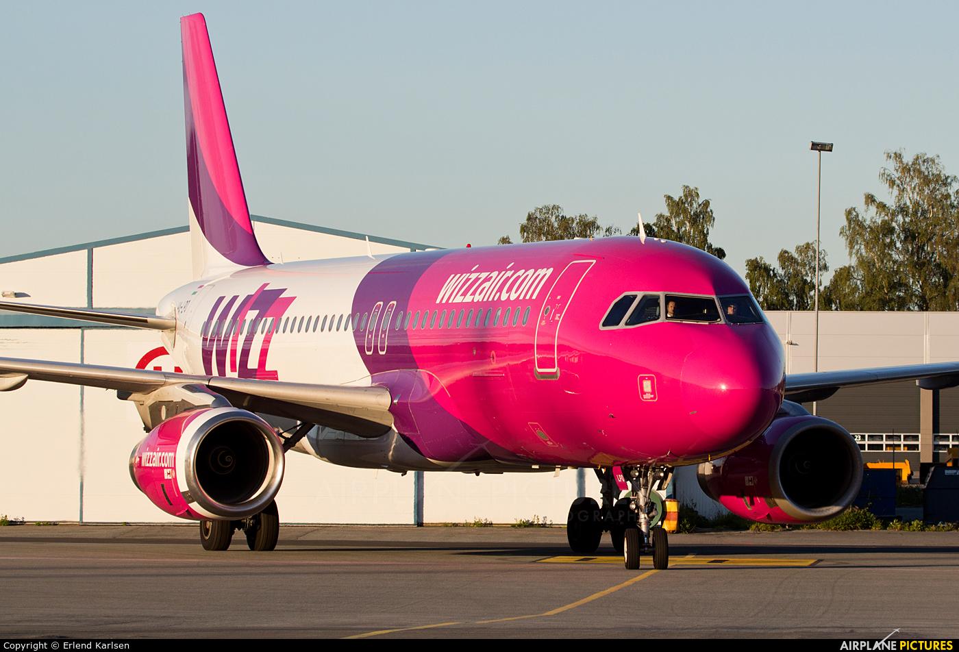 Wizz Air HA-LPO aircraft at Trondheim - Vaernes