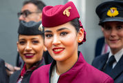 - - Qatar Airways - Aviation Glamour - Flight Attendant aircraft