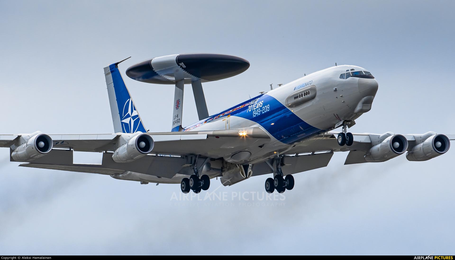 NATO LX-N90450 aircraft at Turku