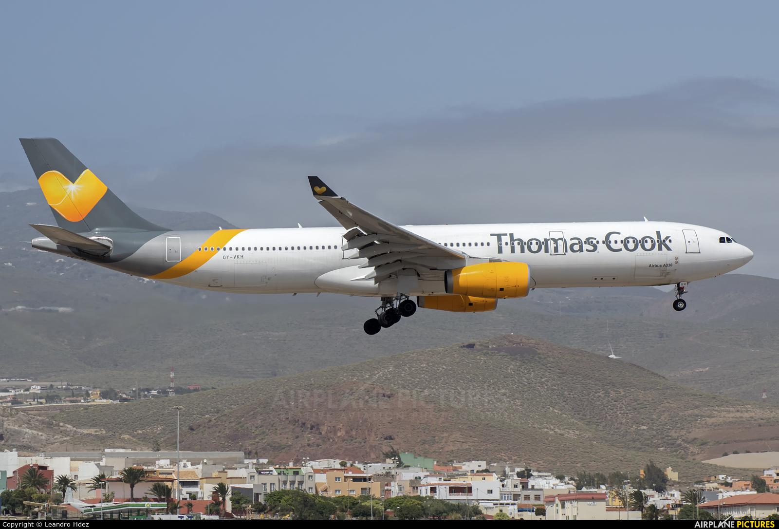 Thomas Cook Scandinavia OY-VKH aircraft at Aeropuerto de Gran Canaria