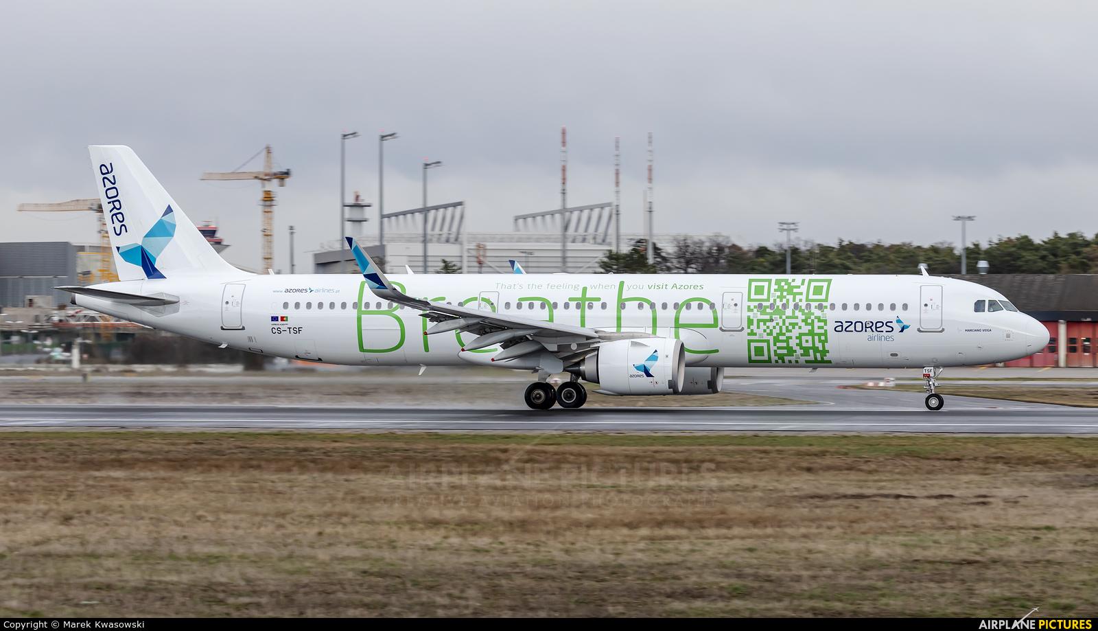 Azores Airlines CS-TSF aircraft at Frankfurt