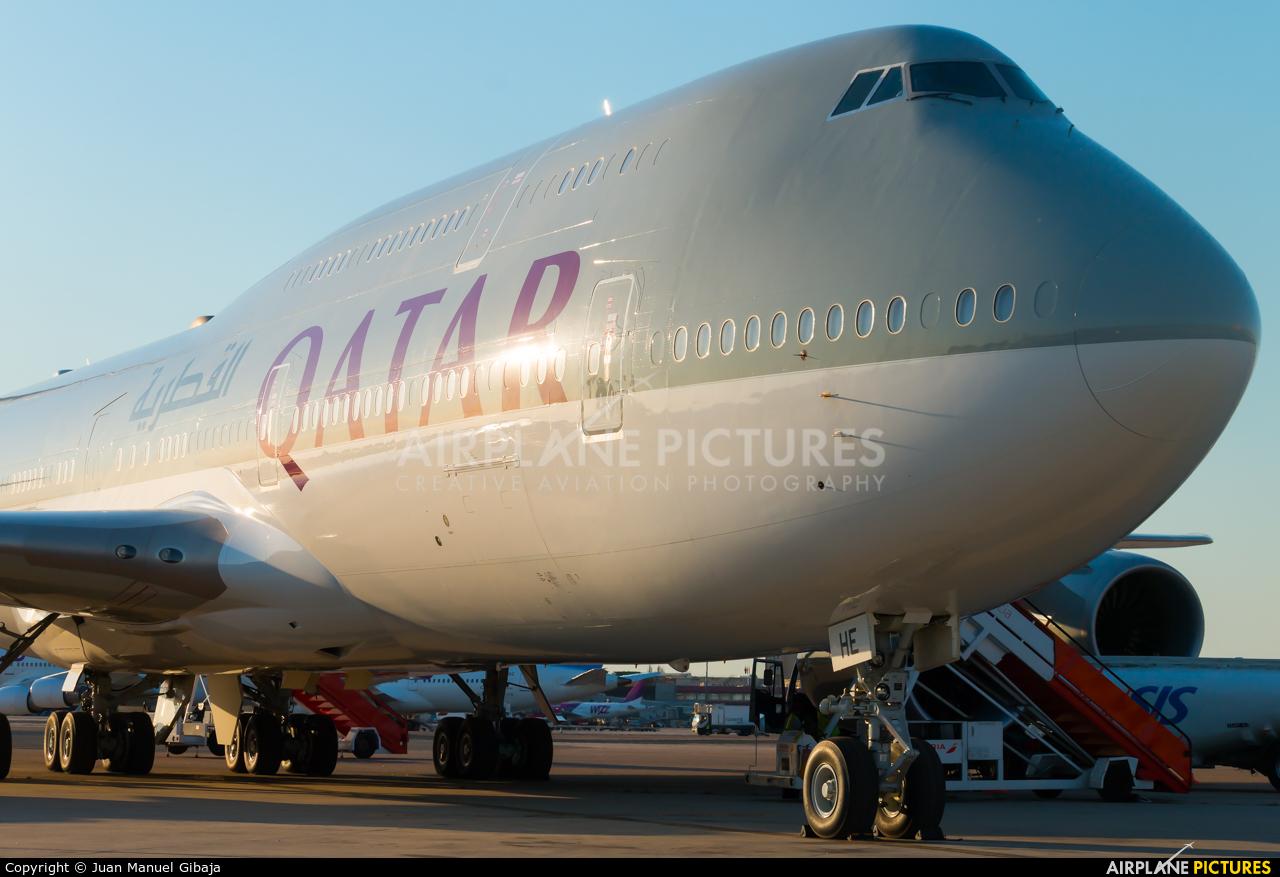 Qatar Amiri Flight A7-HHE aircraft at Madrid - Barajas