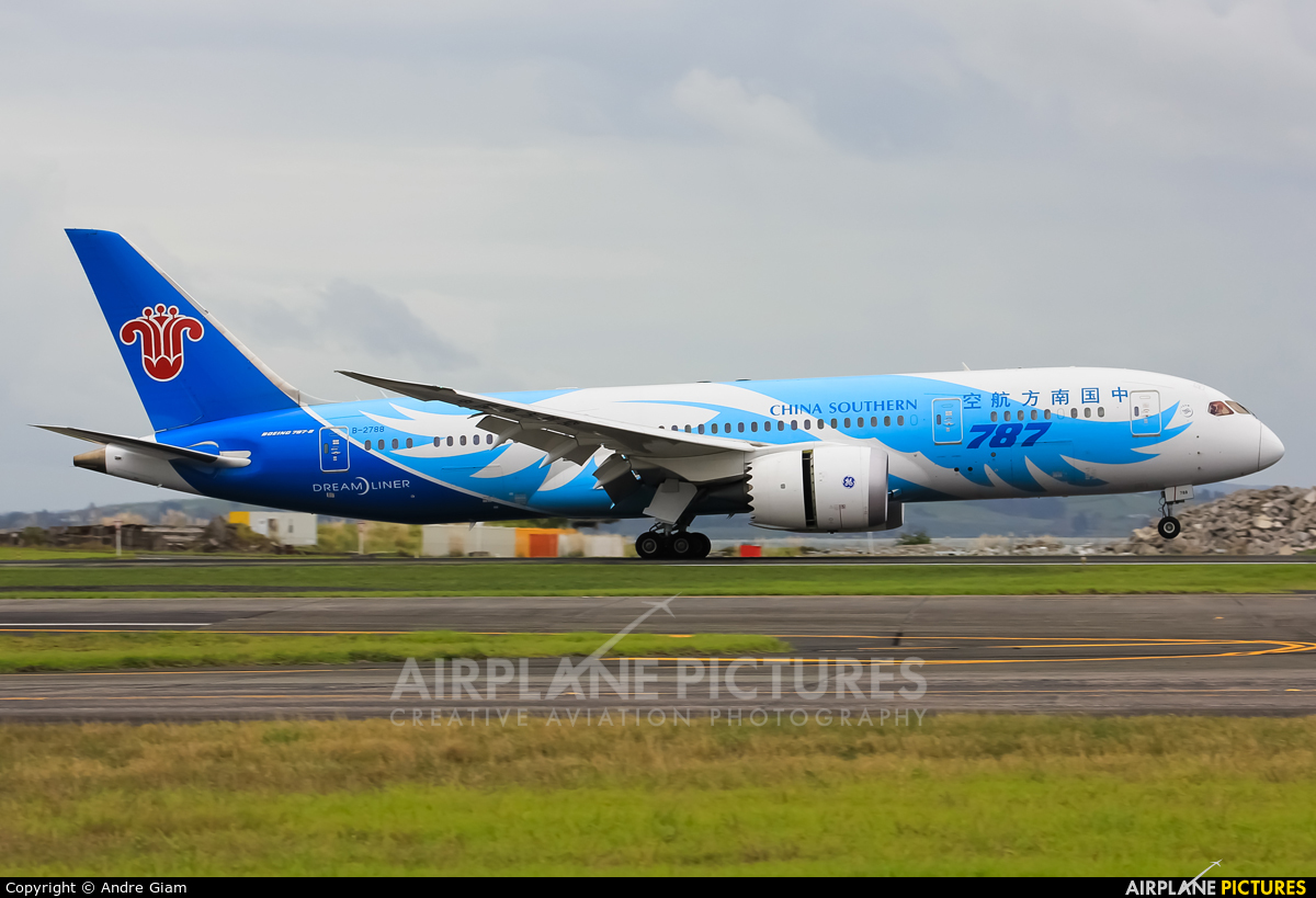 China Southern Airlines B-2788 aircraft at Auckland Intl
