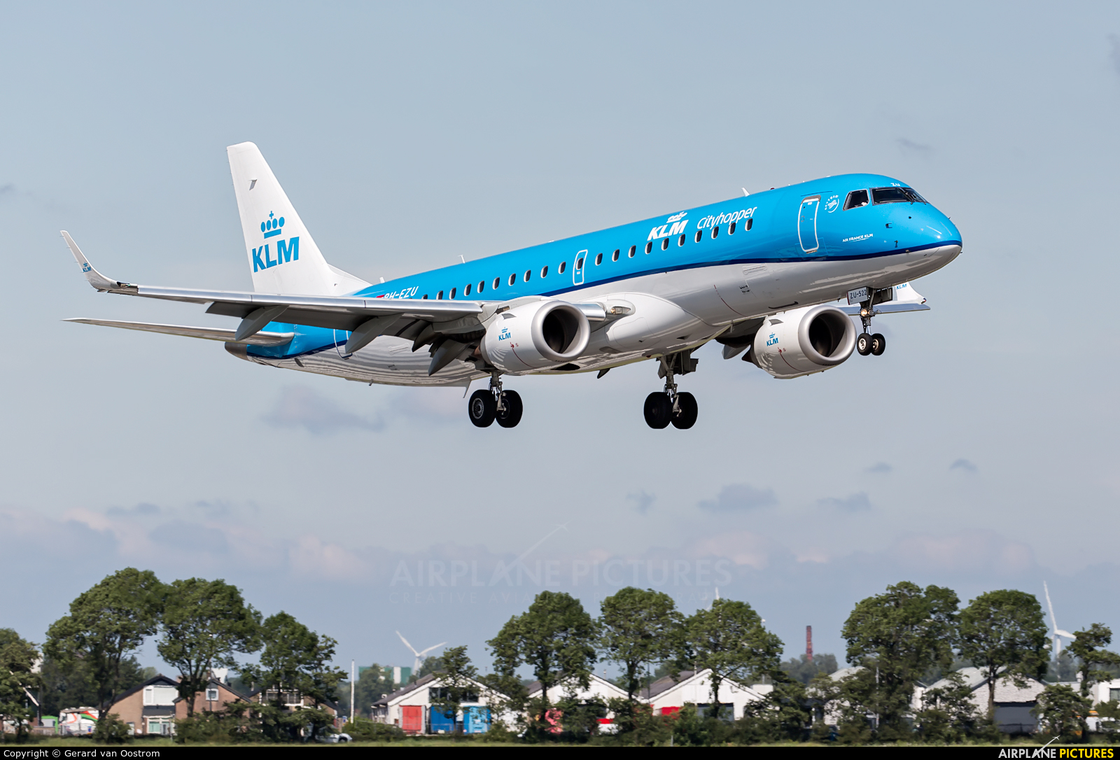 KLM Cityhopper PH-EZU aircraft at Amsterdam - Schiphol