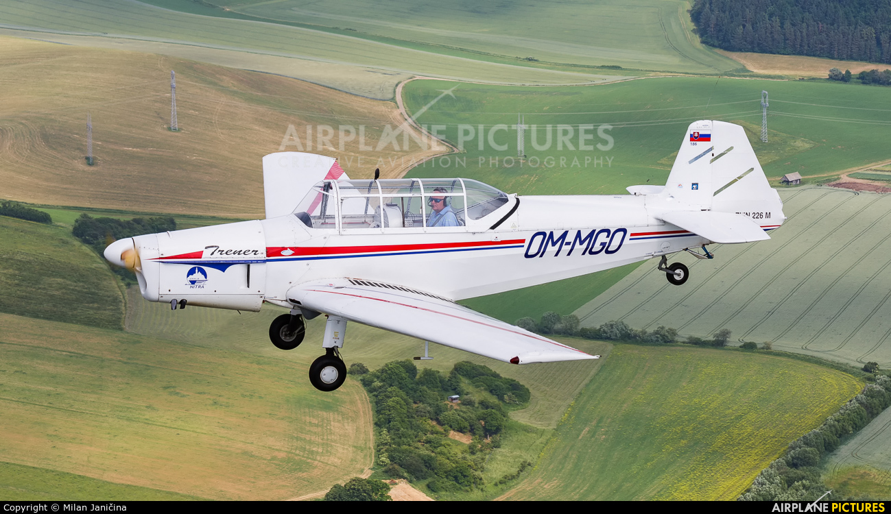Aeroklub Nitra OM-MGO aircraft at Martin-Tomčany