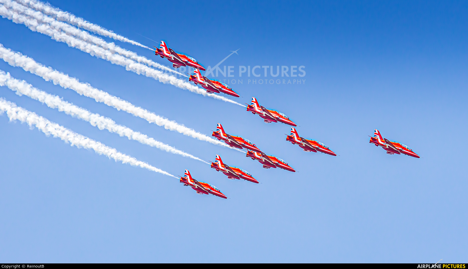 """Royal Air Force """"Red Arrows"""" XX278 aircraft at Uden - Volkel"""