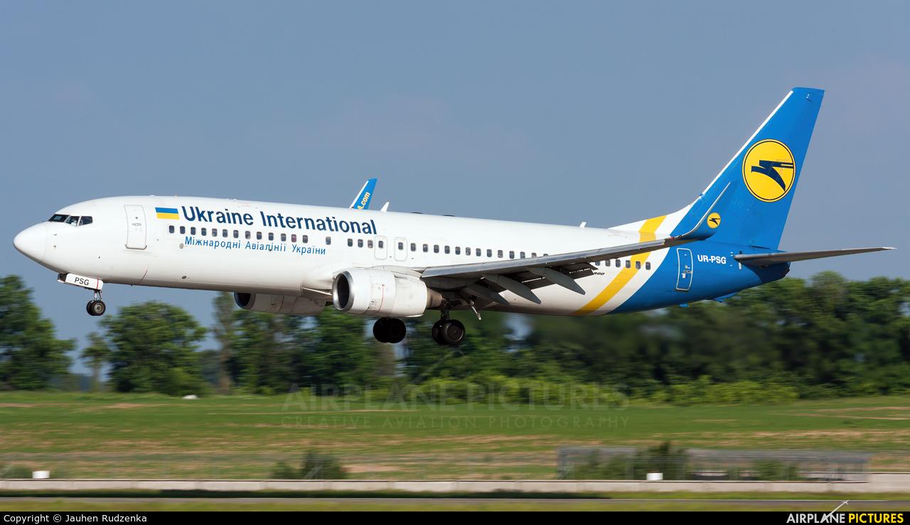 Ukraine International Airlines UR-PSG aircraft at Kyiv - Borispol