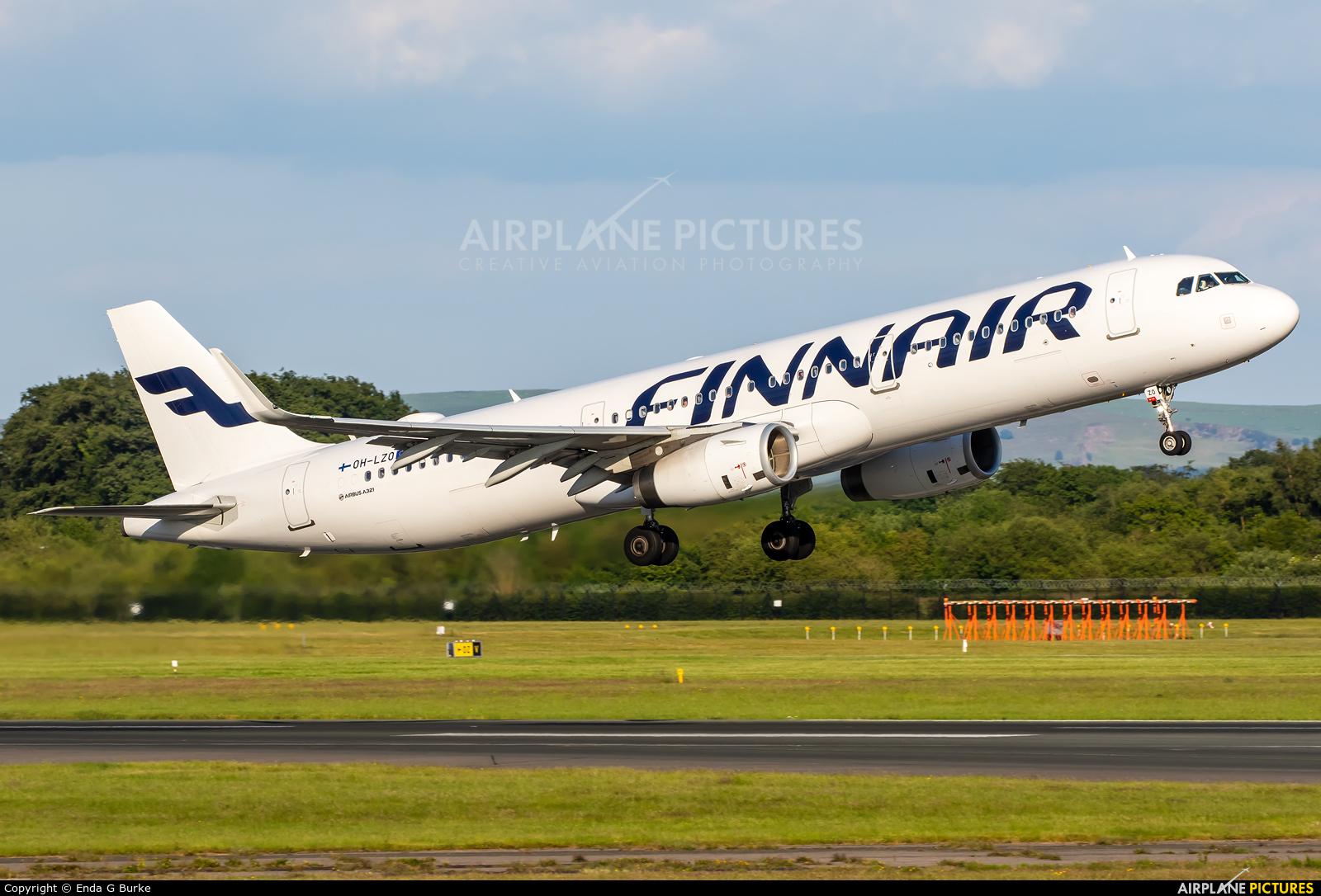 Finnair OH-LZO aircraft at Manchester
