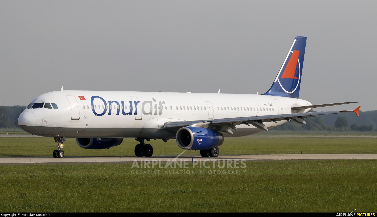 Onur Air TC-OBZ aircraft at Ostrava Mošnov