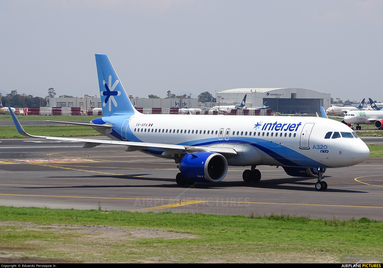Interjet XA-APA aircraft at Mexico City - Licenciado Benito Juarez Intl