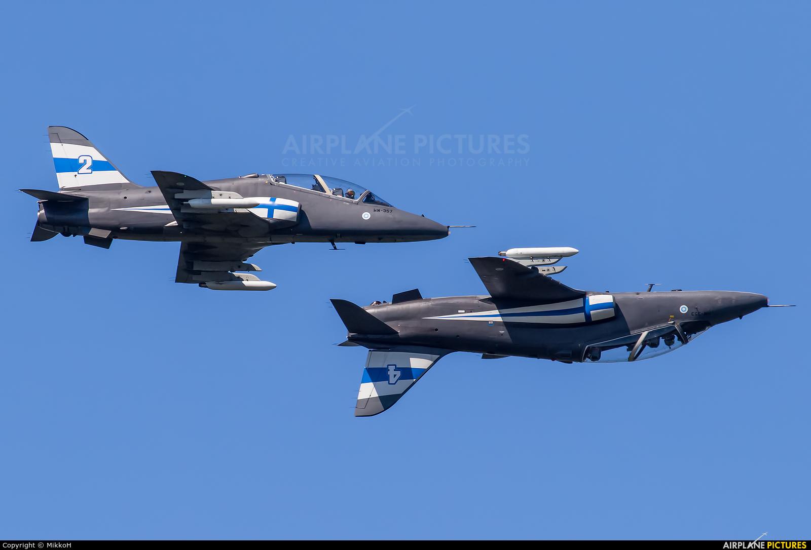Finland - Air Force: Midnight Hawks HW-357 aircraft at Turku