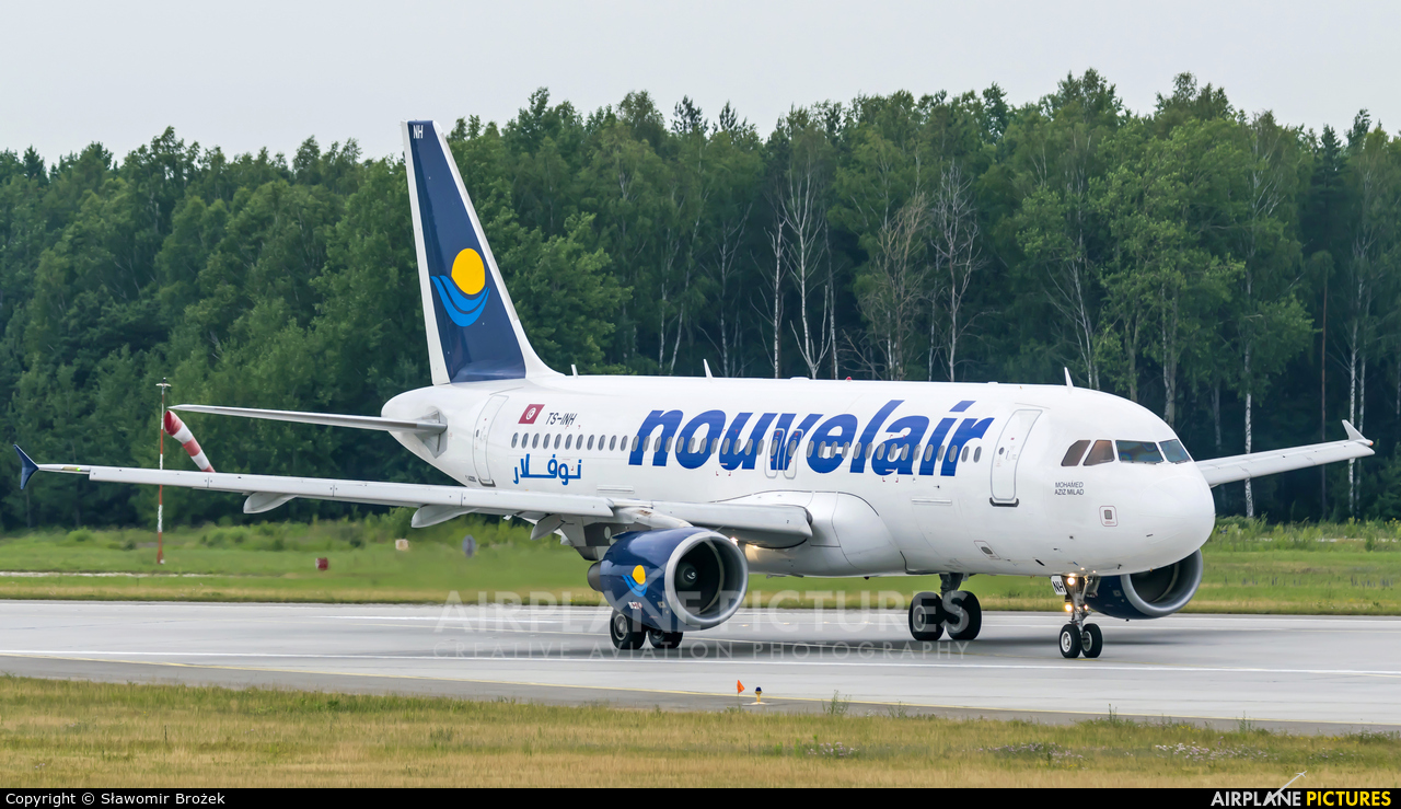 Nouvelair TS-INH aircraft at Katowice - Pyrzowice