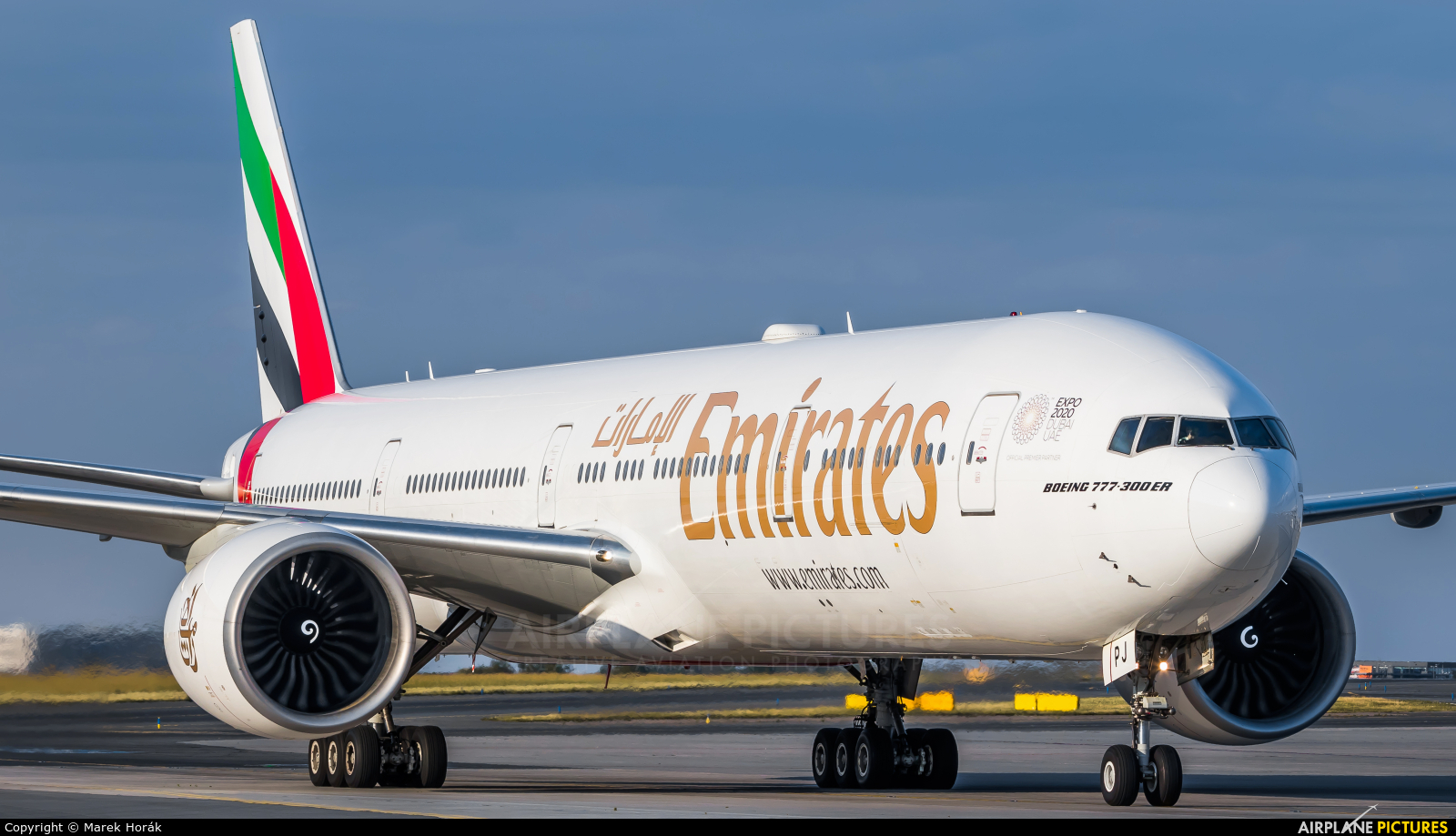Emirates Airlines A6-EPJ aircraft at Prague - Václav Havel