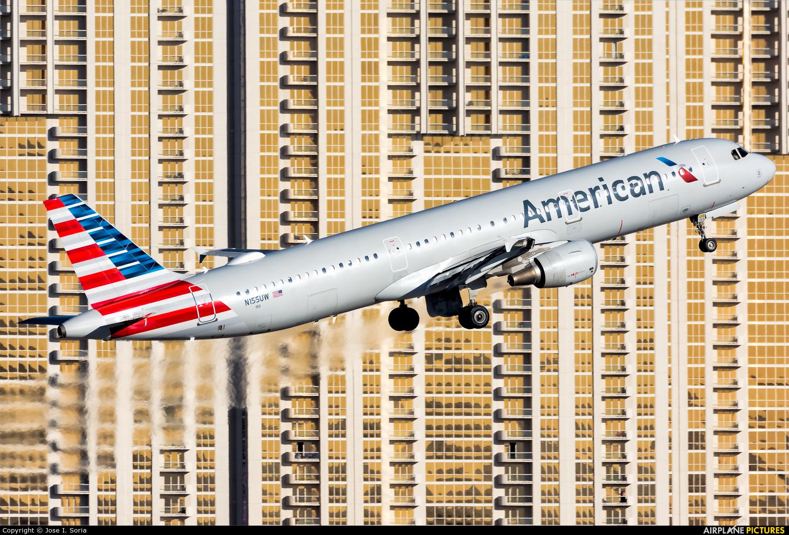 American Airlines N155UW aircraft at Las Vegas - McCarran Intl