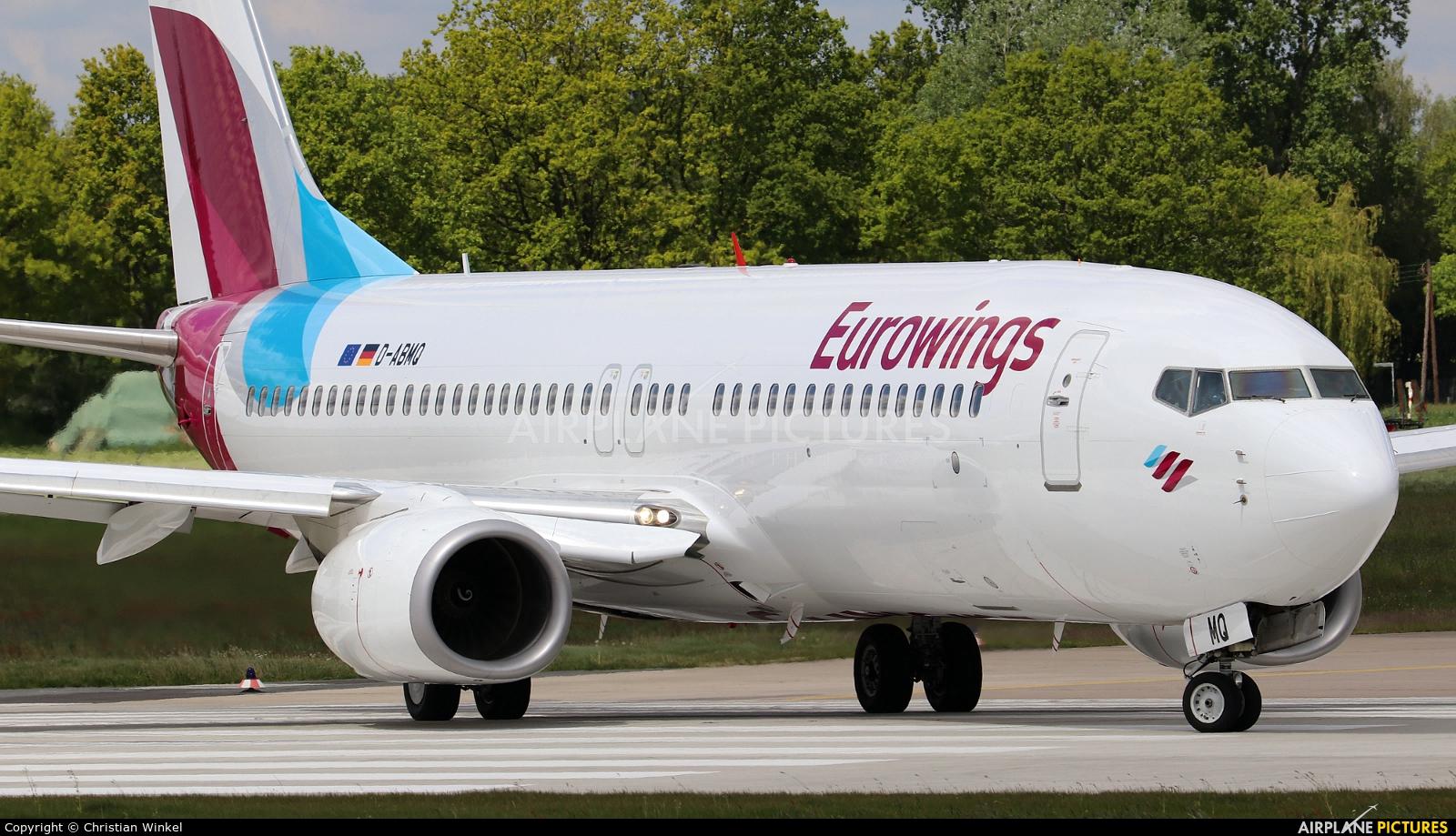 Eurowings D-ABMQ aircraft at Hannover - Langenhagen