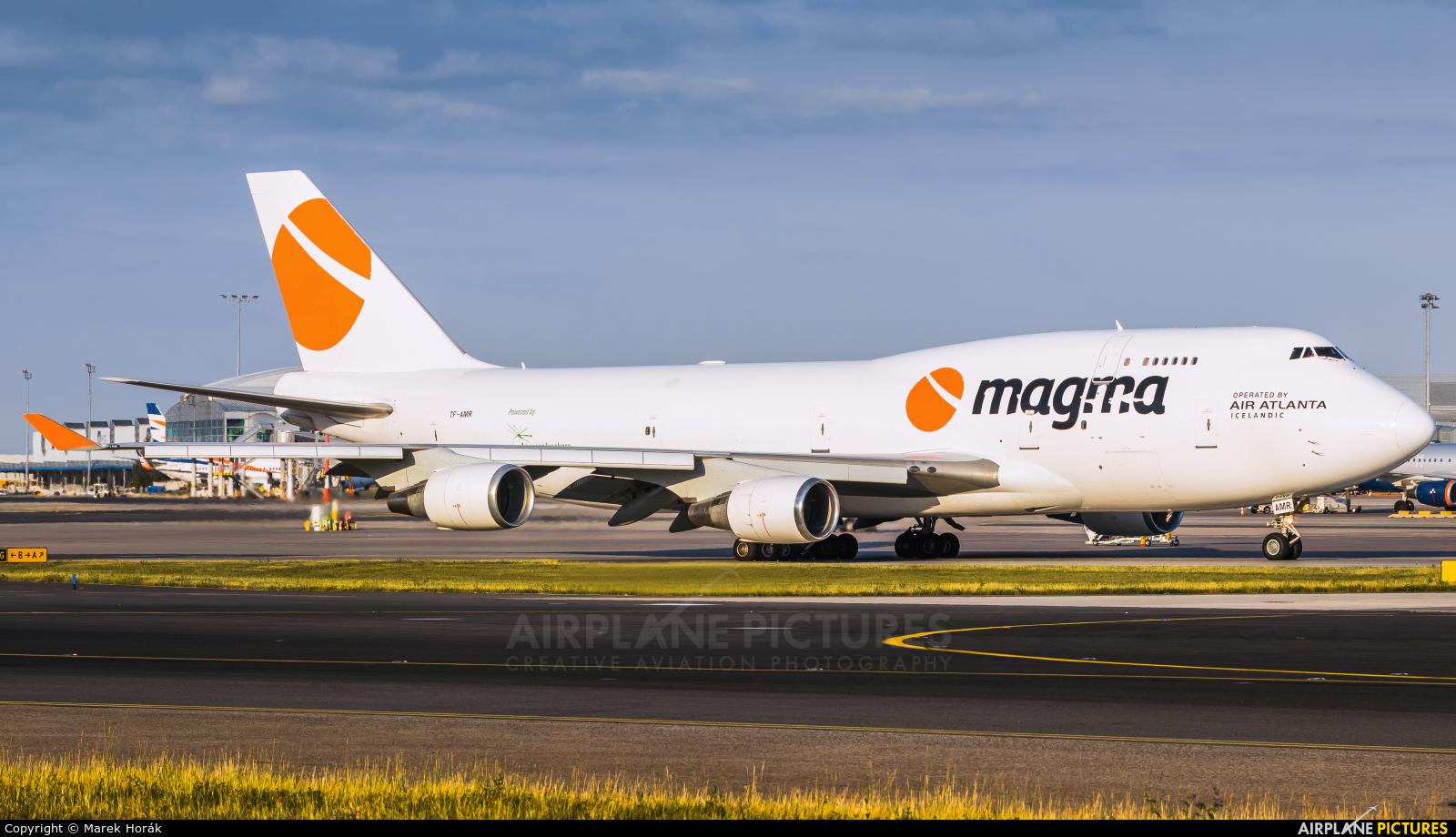 Air Atlanta Icelandic TF-AMR aircraft at Prague - Václav Havel
