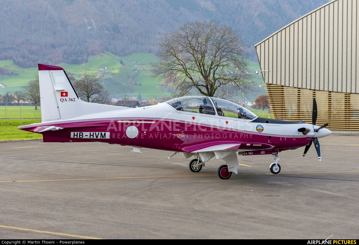 Qatar Amiri - Air Force HB-HVM aircraft at Buochs