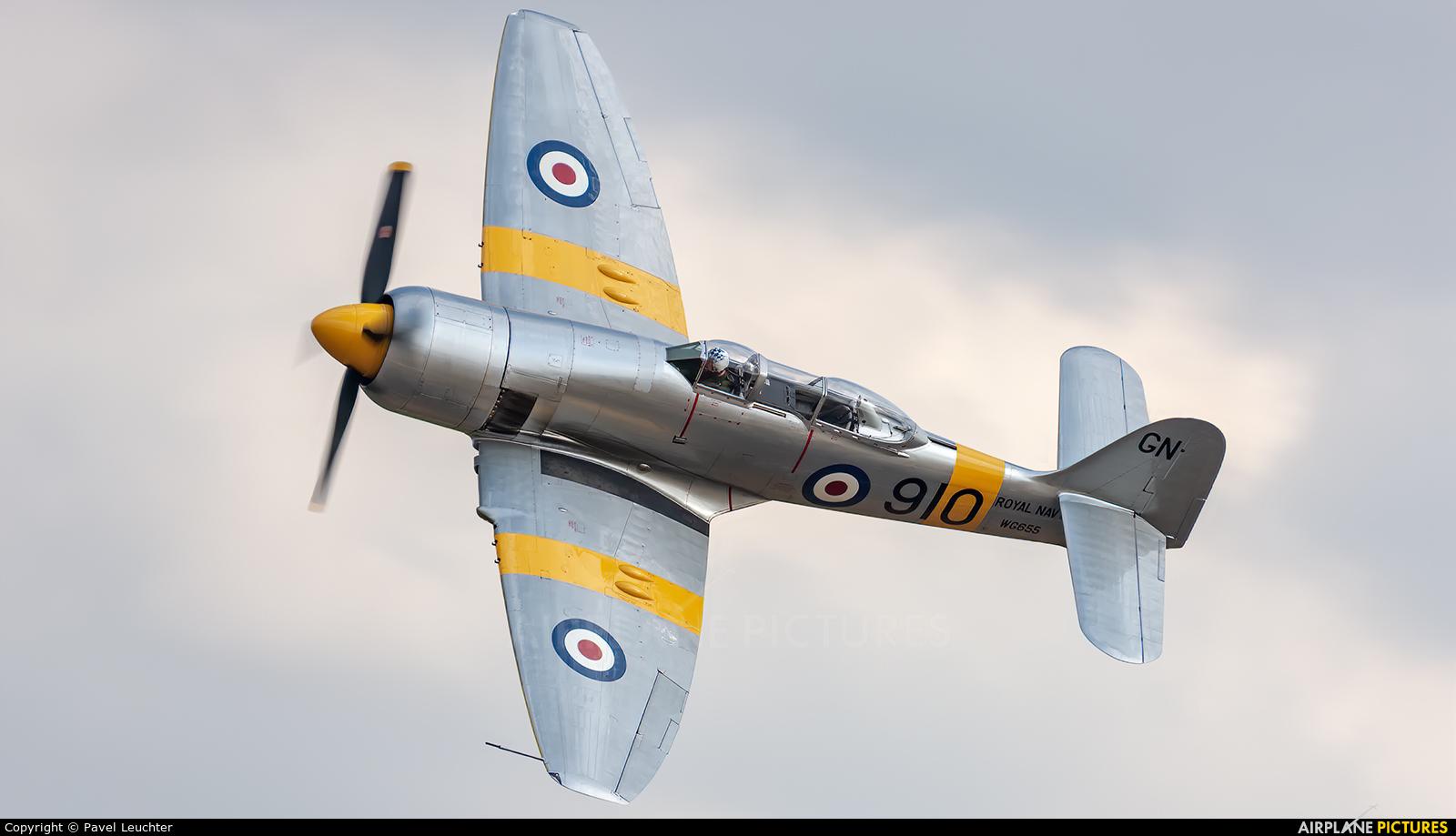 Royal Navy WG655 aircraft at Duxford