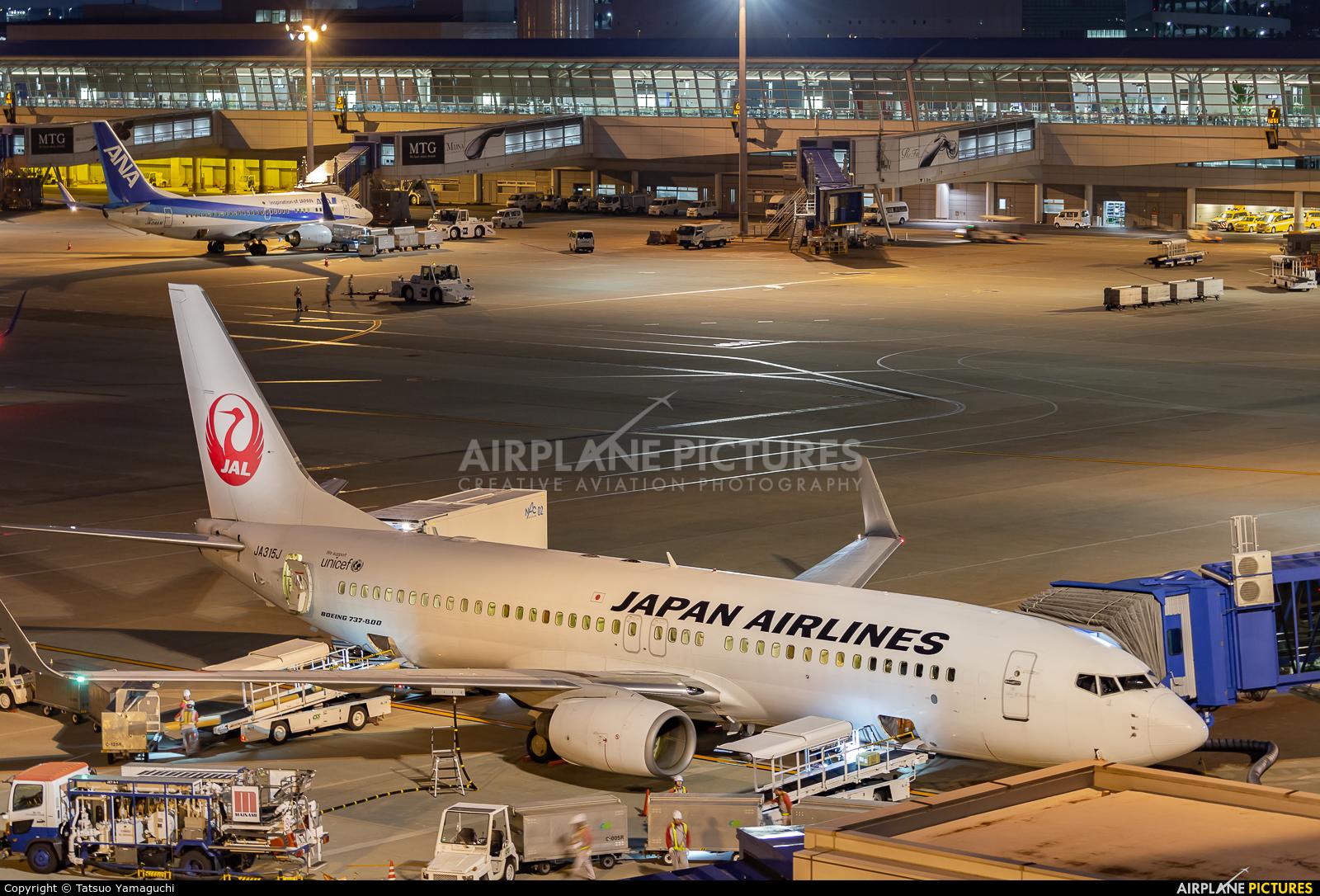 JAL - Japan Airlines JA315J aircraft at Chubu Centrair Intl