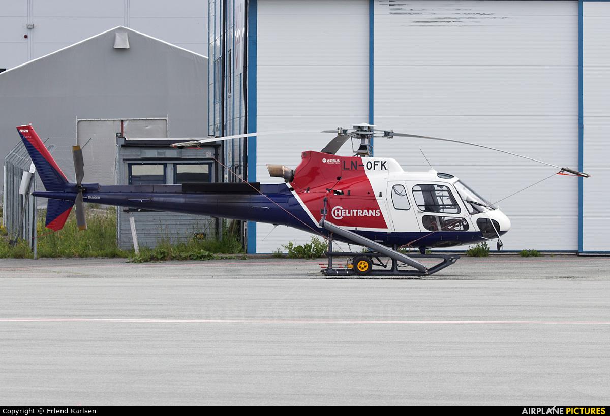 Helitrans LN-OFK aircraft at Trondheim - Vaernes