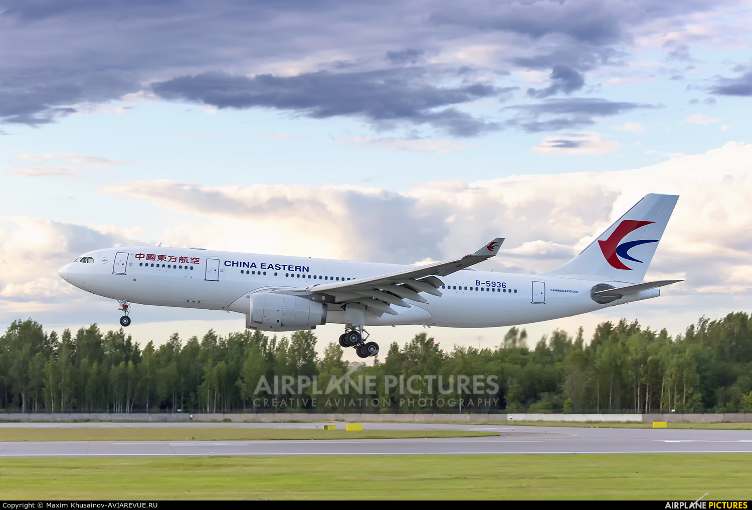 China Eastern Airlines B-5936 aircraft at St. Petersburg - Pulkovo