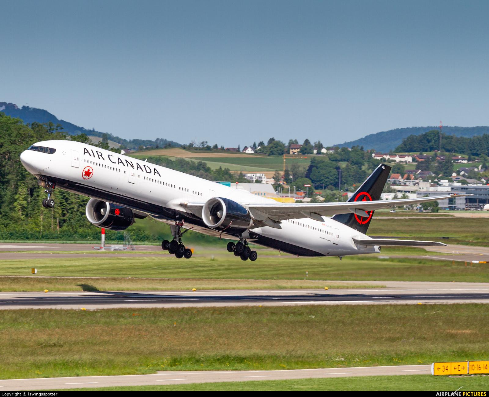 Air Canada C-FITU aircraft at Zurich