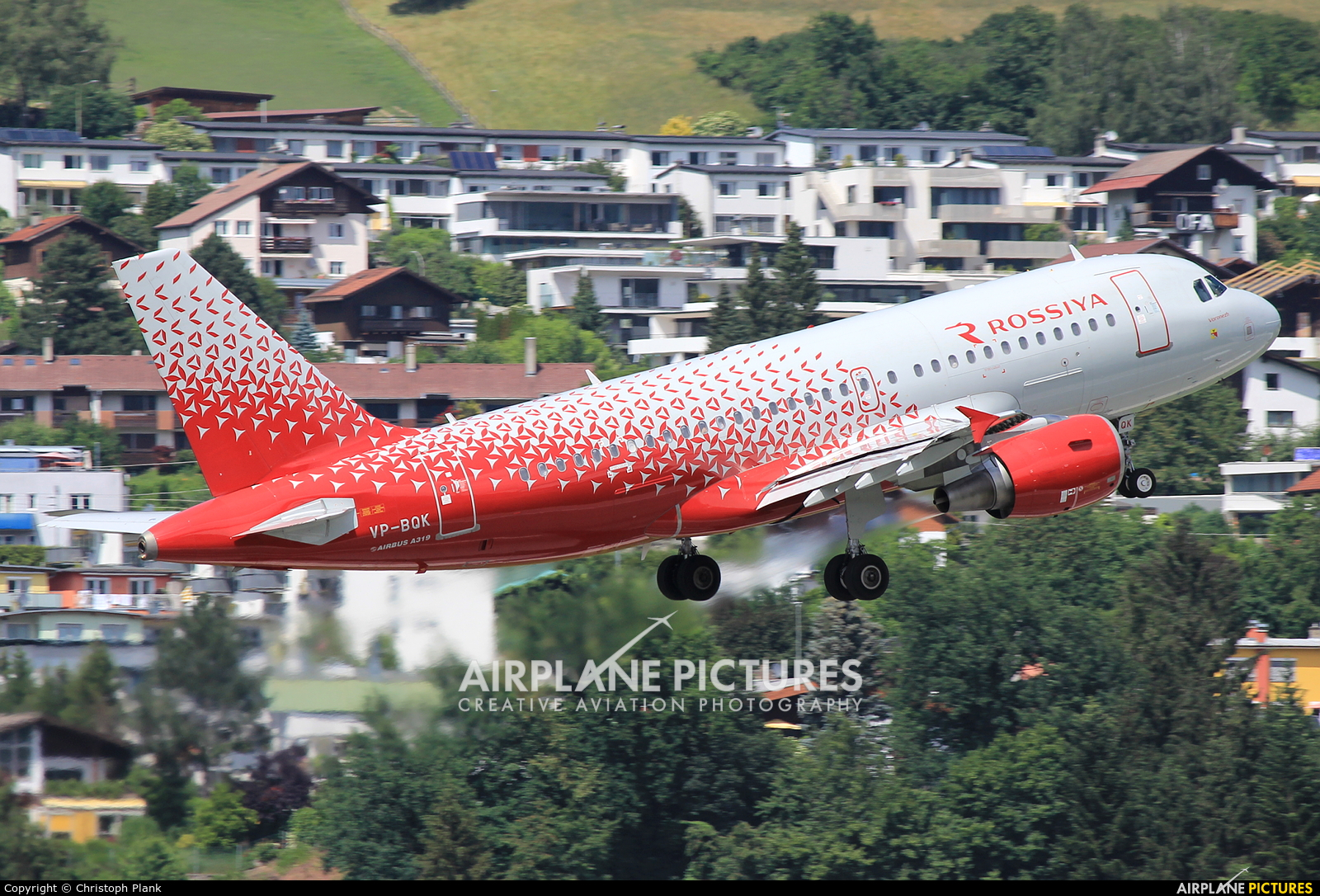 Rossiya VP-BQK aircraft at Innsbruck