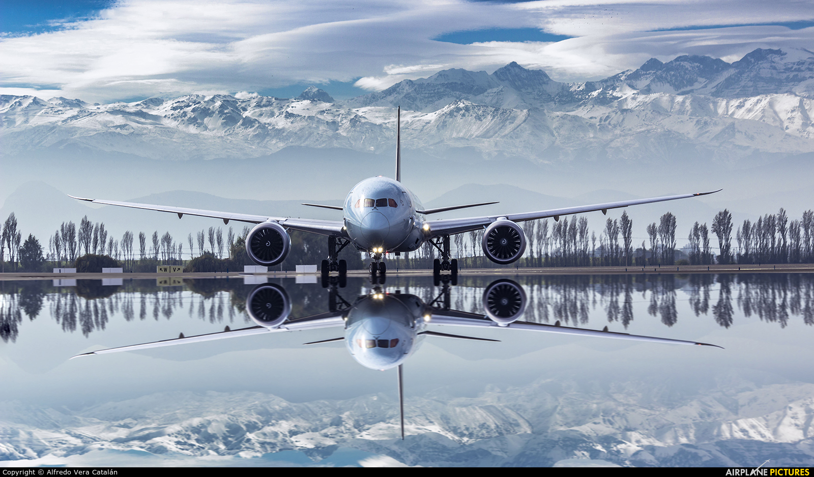 Air Canada C-FKSV aircraft at Santiago de Chile - Arturo Merino Benítez Intl