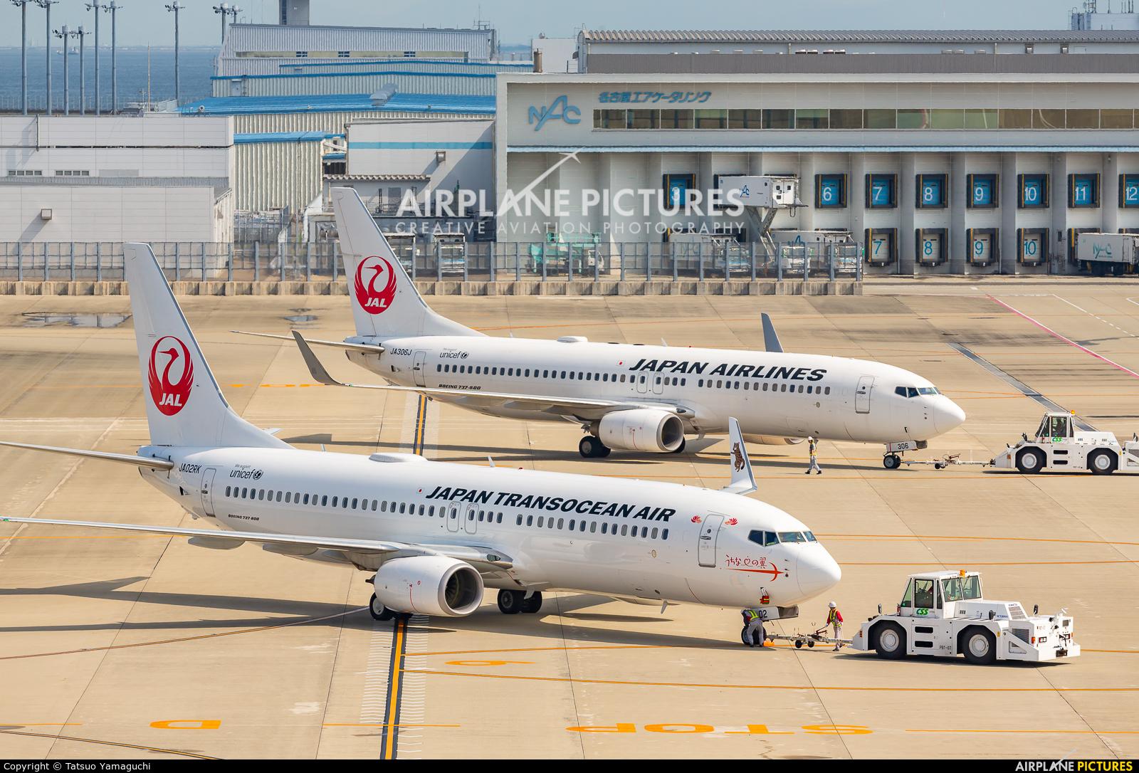 JAL - Japan Transocean Air JA02RK aircraft at Chubu Centrair Intl