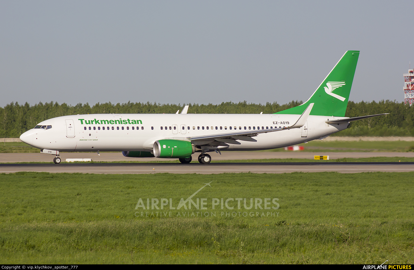 Turkmenistan Airlines EZ-A019 aircraft at Moscow - Domodedovo