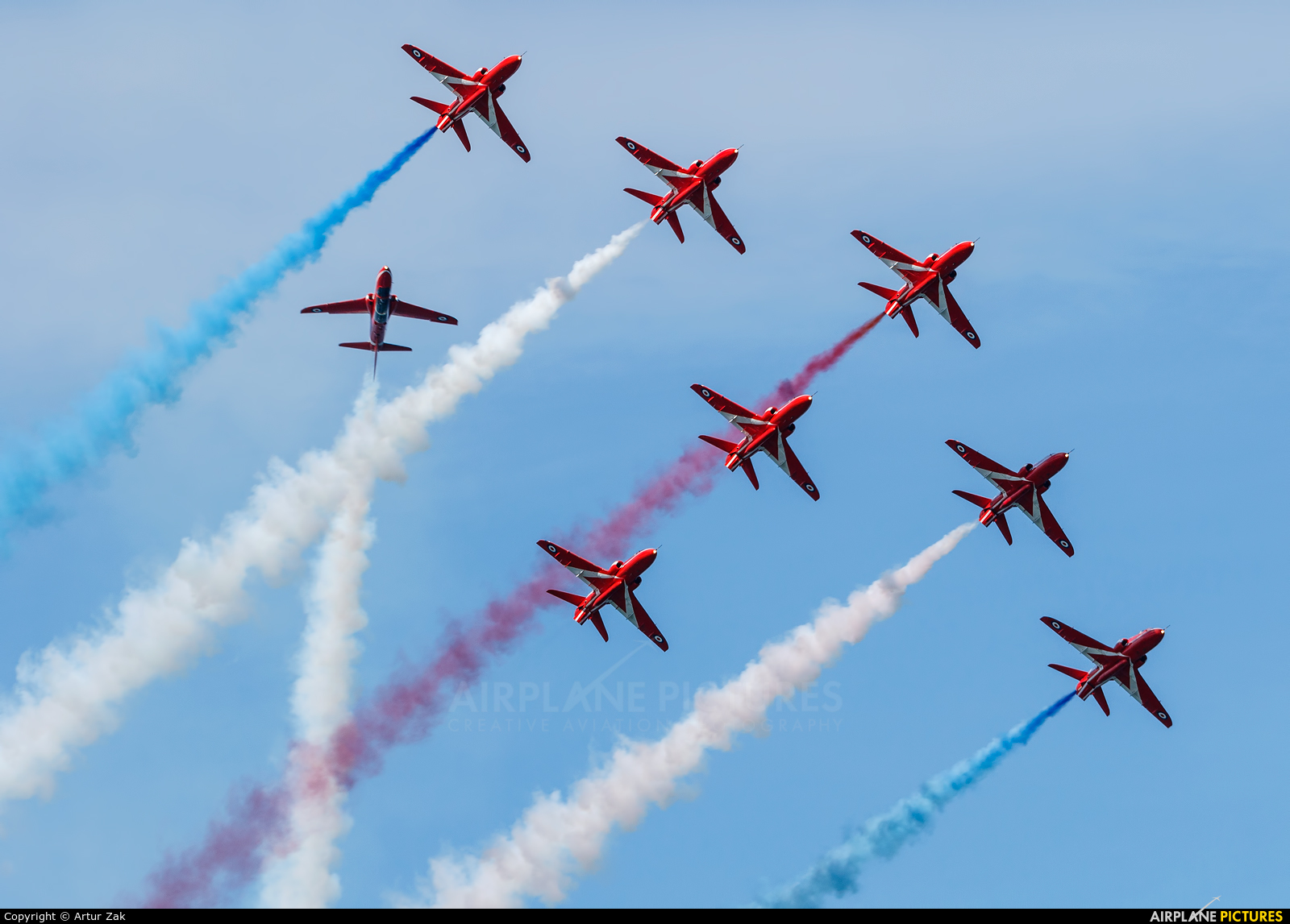 """Royal Air Force """"Red Arrows"""" XX322 aircraft at Newcastle - Off Airport"""