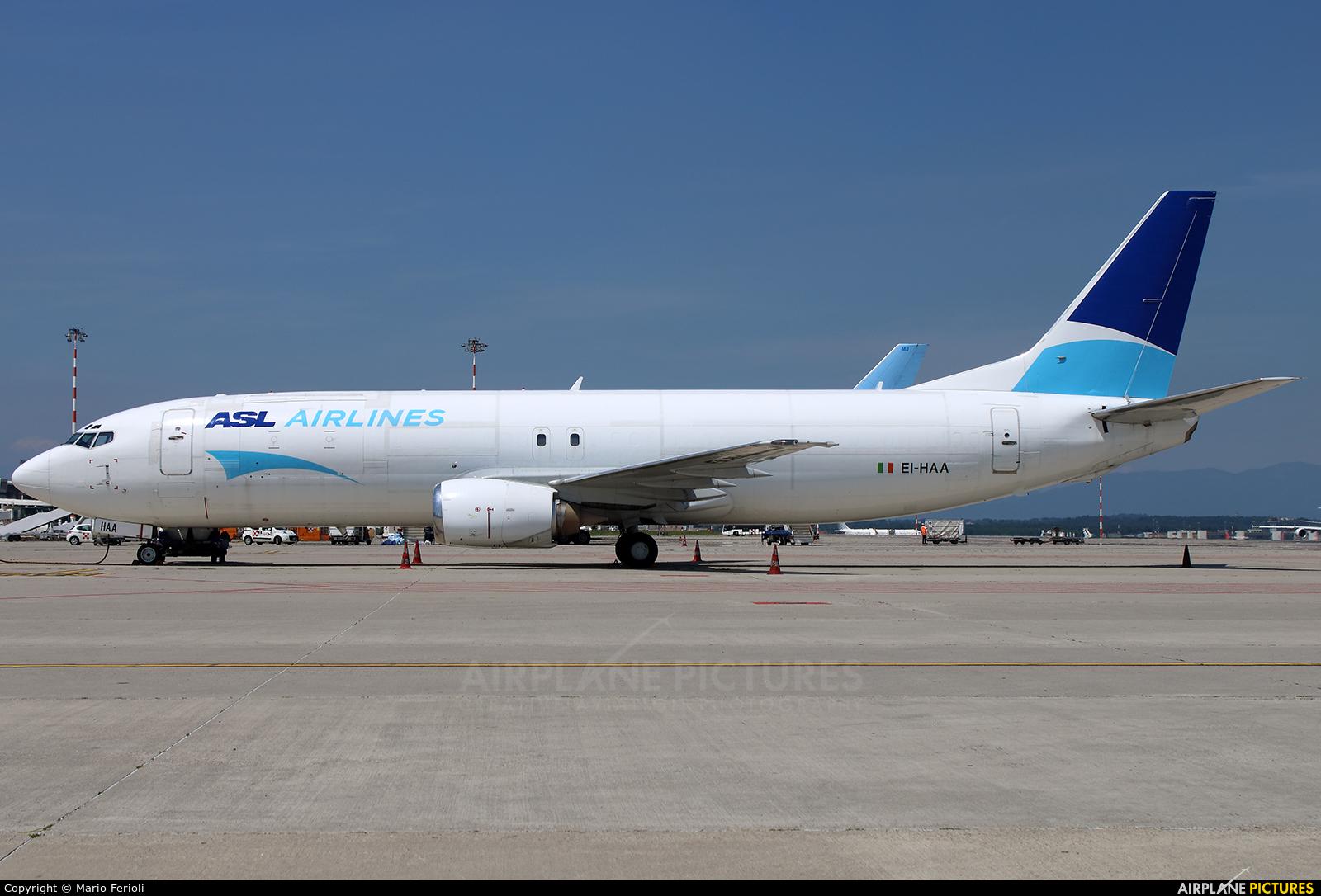 ASL Airlines EI-HAA aircraft at Milan - Malpensa