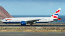 G-VIIT - British Airways Boeing 777-200ER aircraft