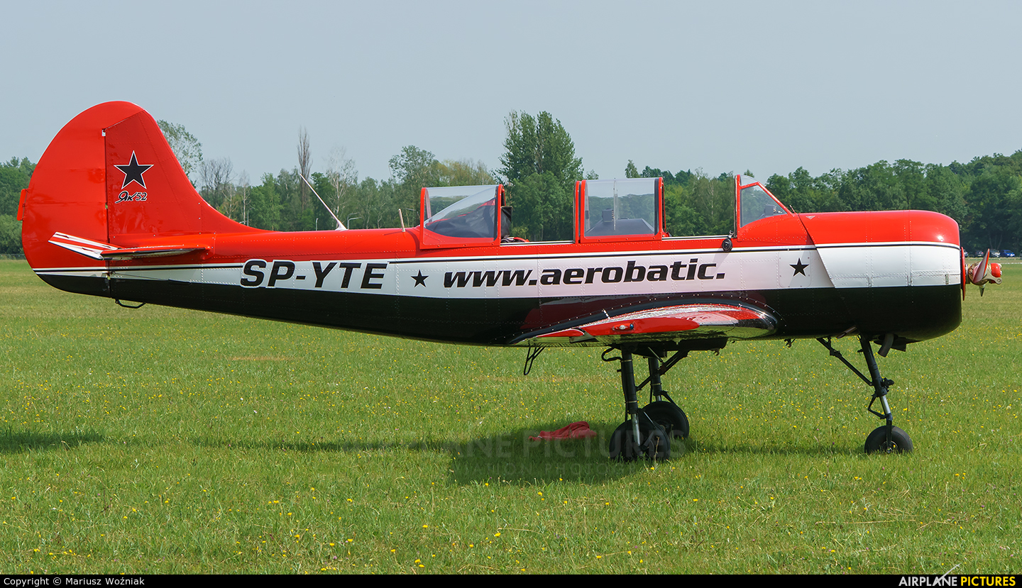 Private SP-YTE aircraft at Płock
