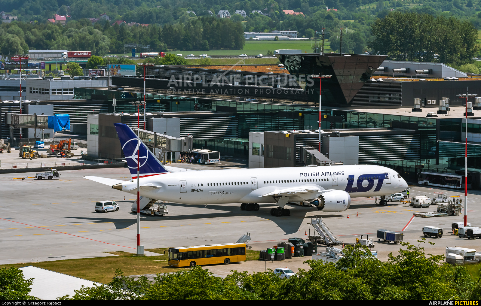 LOT - Polish Airlines SP-LSA aircraft at Kraków - John Paul II Intl