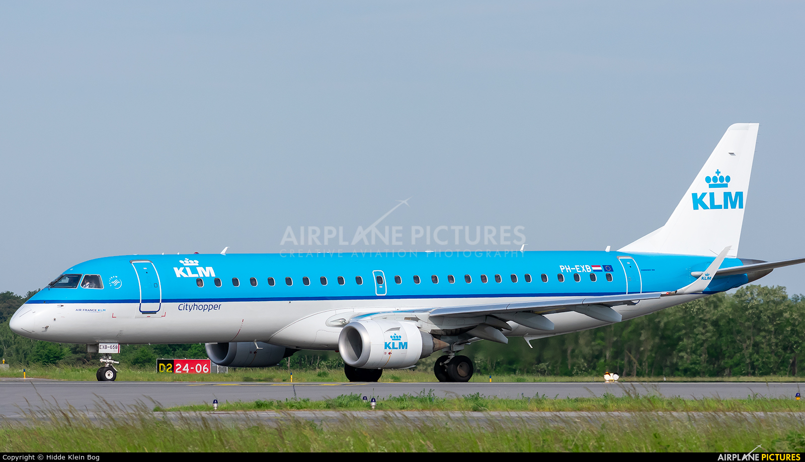 KLM Cityhopper PH-EXB aircraft at Luxembourg - Findel