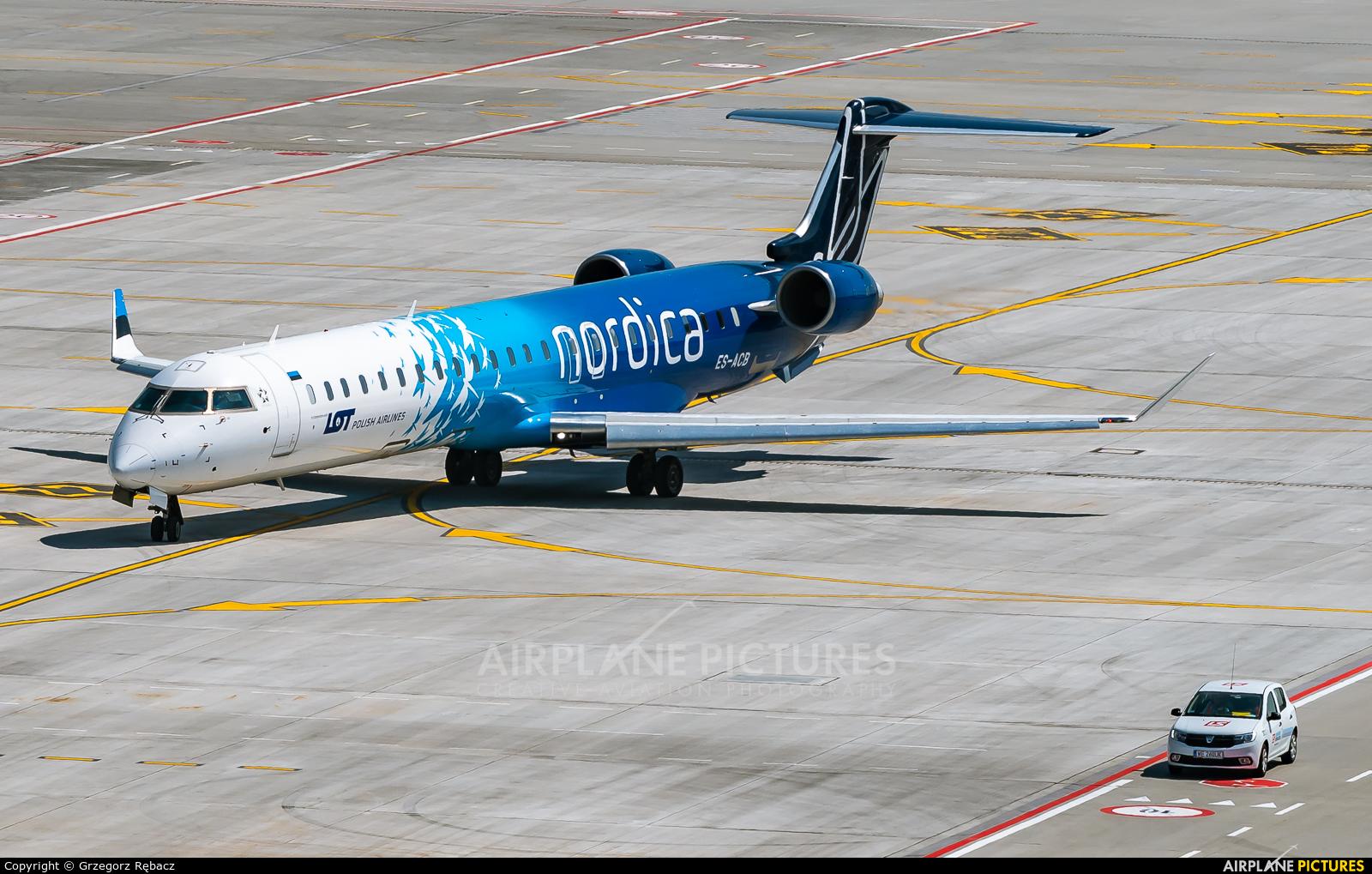 Nordica ES-ACB aircraft at Kraków - John Paul II Intl