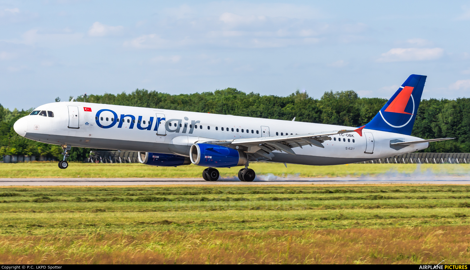 Onur Air TC-OBK aircraft at Pardubice