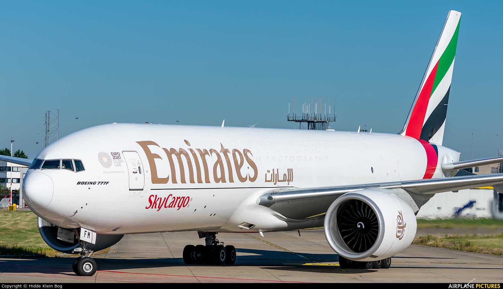 Emirates Sky Cargo A6-EFM aircraft at Maastricht - Aachen