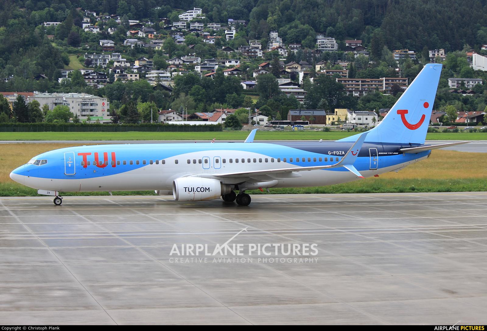 TUI Airways G-FDZA aircraft at Innsbruck