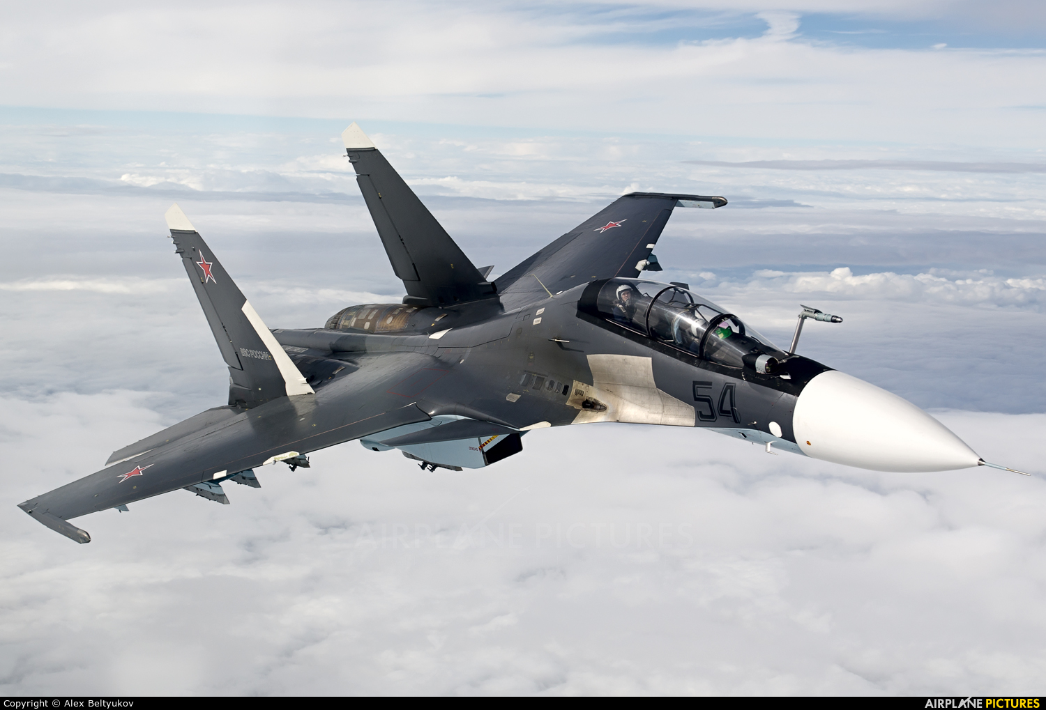 Russia - Air Force 54 BLACK aircraft at In Flight - Russia