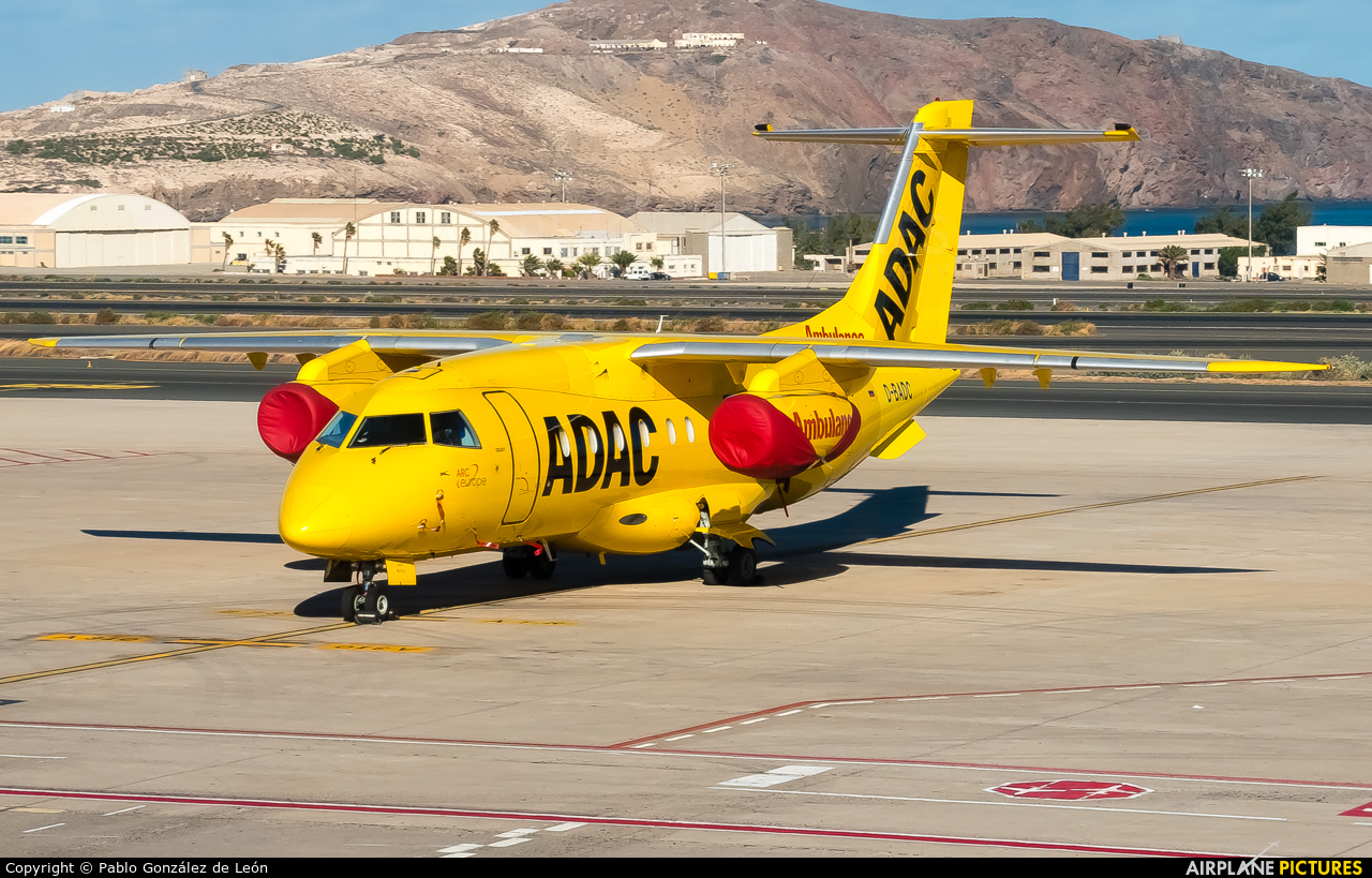 ADAC Luftrettung D-BADC aircraft at Aeropuerto de Gran Canaria