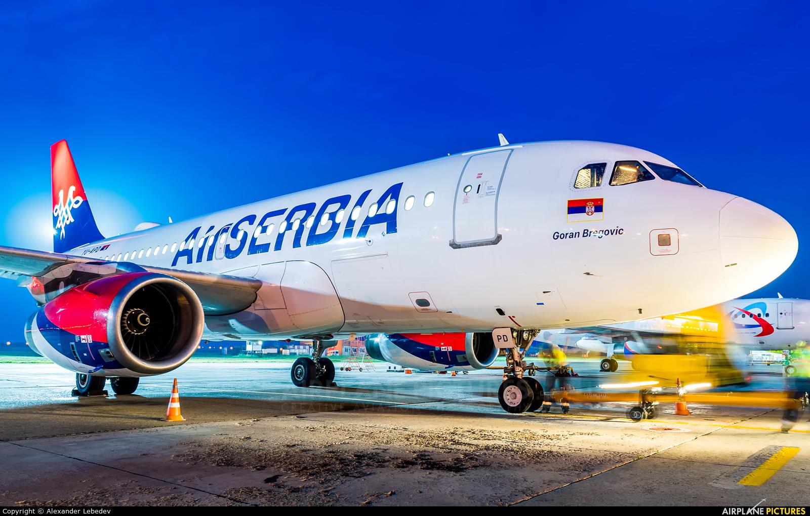 Air Serbia YU-APD aircraft at Krasnodar