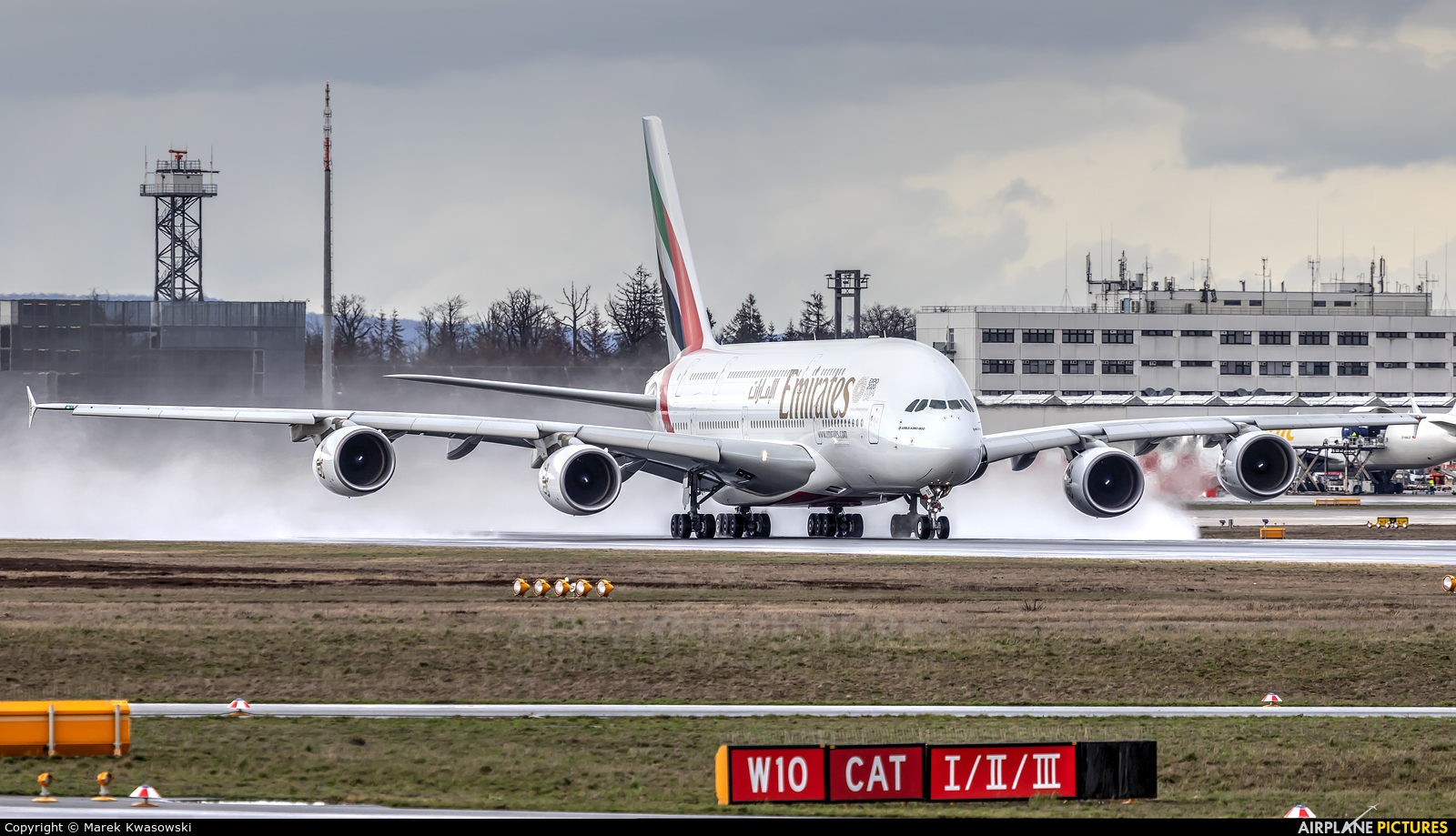 Emirates Airlines A6-EDS aircraft at Frankfurt