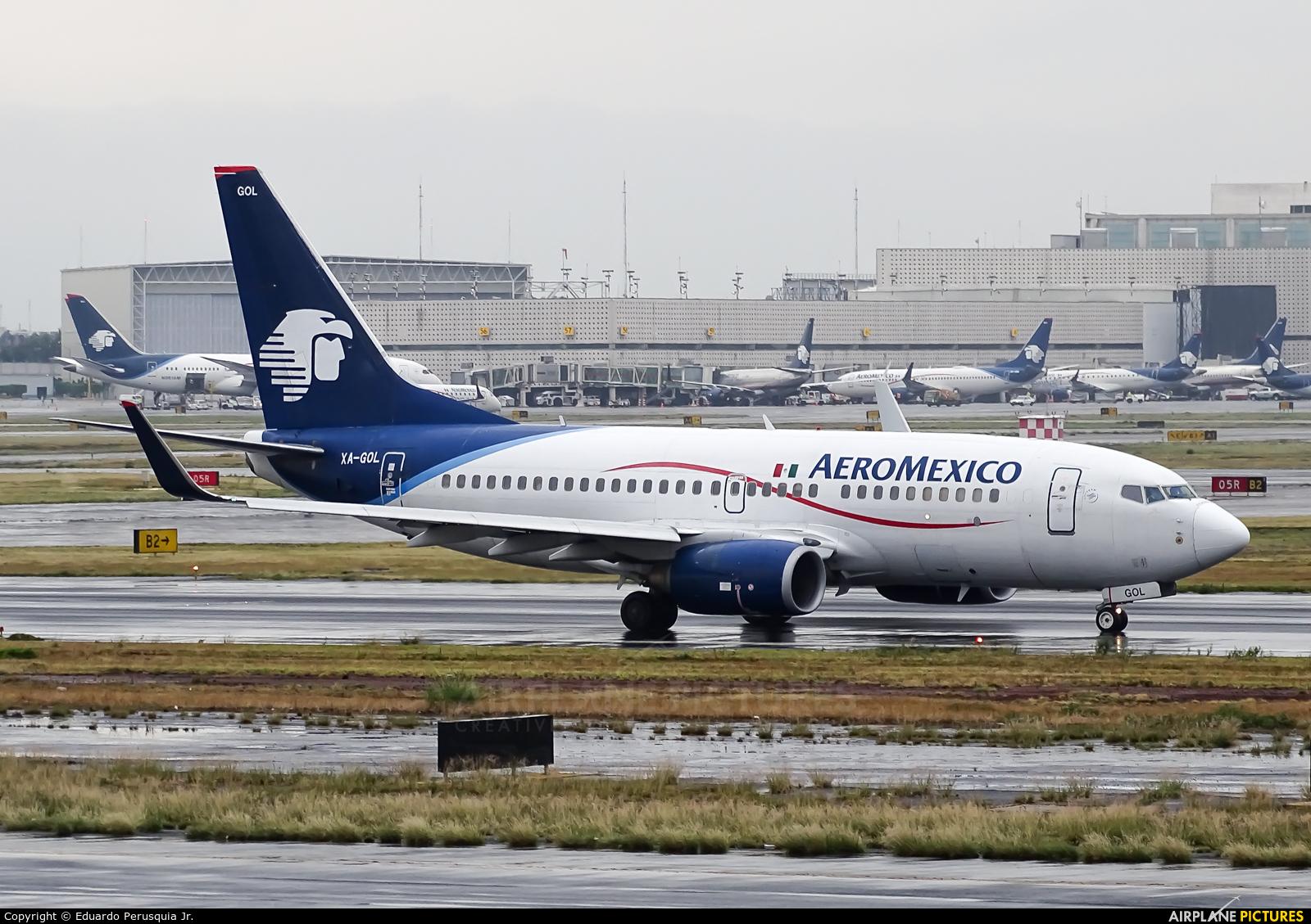 Aeromexico Boeing 737-700 at Ciudad Juarez on Jul 5th 2017